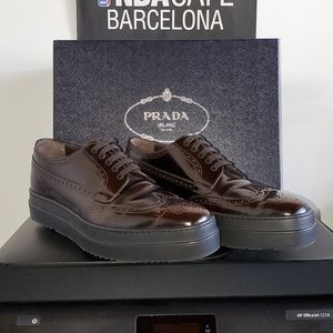 Prada Triple Sole Wingtip Derby (Men)